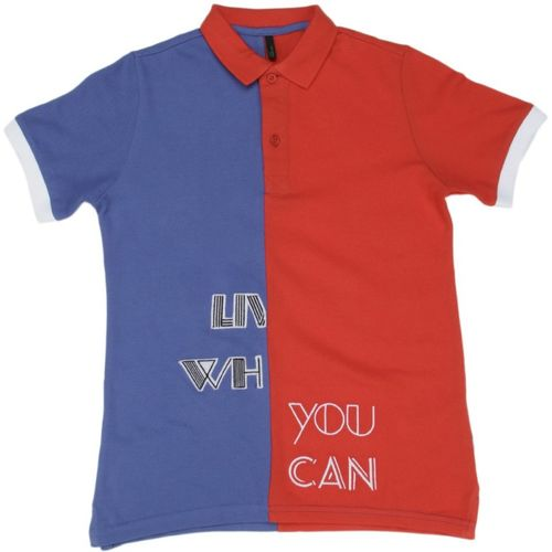 United Colors of Benetton Boys Solid Cotton Blend T Shirt(Multicolor, Pack of 1)