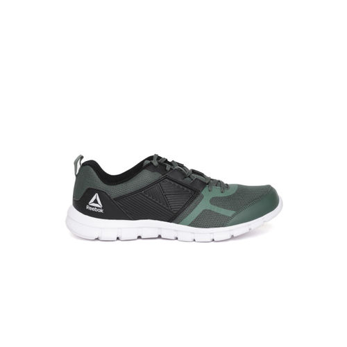 Reebok Men Olive Green & Black Speed XT Enhanced LP Colourblocked Running Shoes