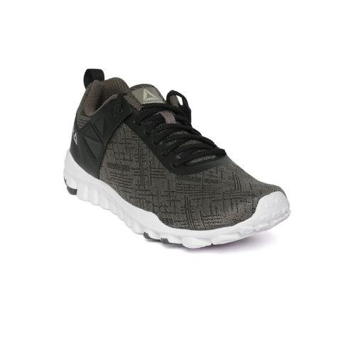 Reebok Men Olive Green & Black Train-O-Grace Running Shoes