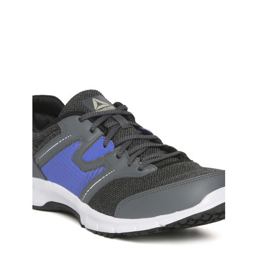 Reebok Men Grey & Blue Colourblocked Euphony Running Shoes