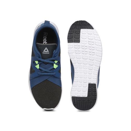 Reebok Men Olive Green & Blue Colourblocked Inspire Running Shoes