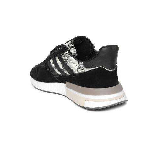 ADIDAS Originals Men Black ZX 500 RM Snakeskin Print Sneakers