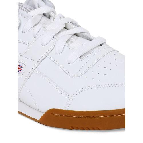 Reebok Classic Men White Workout Plus Sneakers