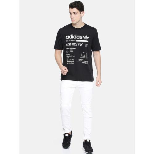 ADIDAS Originals Black Printed Kaval Grp Round Neck T-Shirt