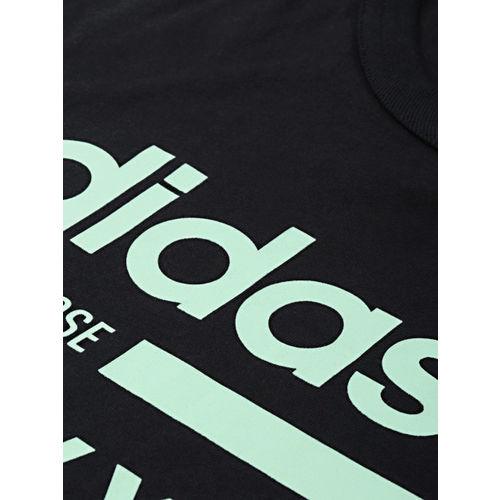 ADIDAS Originals Men Black & Green Printed KAVAL GRP T-shirt
