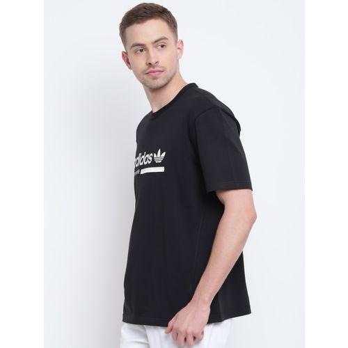 ADIDAS Originals Men Black & White Printed Round Neck T-shirt