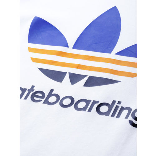 ADIDAS Originals Men White Printed CLIMA 3.0 T-Shirt