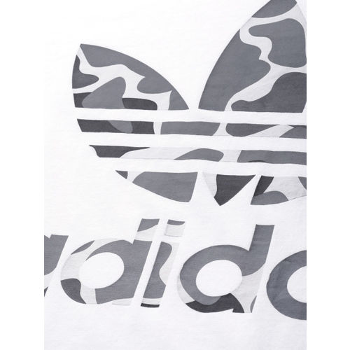 ADIDAS Originals Men White Printed CAMO TREF T-Shirt