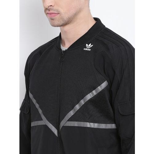 ADIDAS Originals Men Black TRACKTOP Sporty Jacket