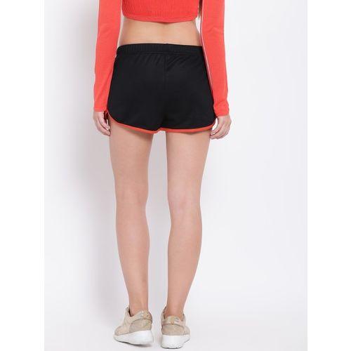 ADIDAS Originals Women Black Solid Regular Fit Sports Shorts