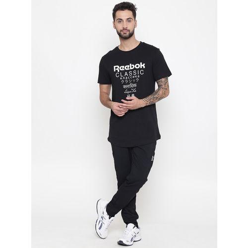 Reebok Classic Unisex Black Graphic Print Longer T-shirt