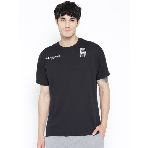 Reebok Classics Unisex Black & White X Pleasures T-shirt with Printed Back