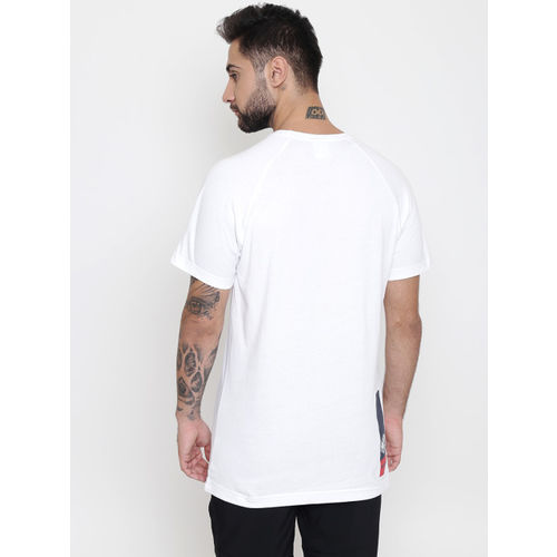 Reebok Classic Men White Solid AC F Longer T-shirt
