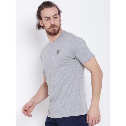 Reebok Classic Men Grey Melange F STARCREST Solid Round Neck T-shirt