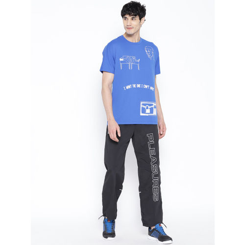 Reebok Classic Unisex Blue and White Printed Reebok X Pleasures T-shirt