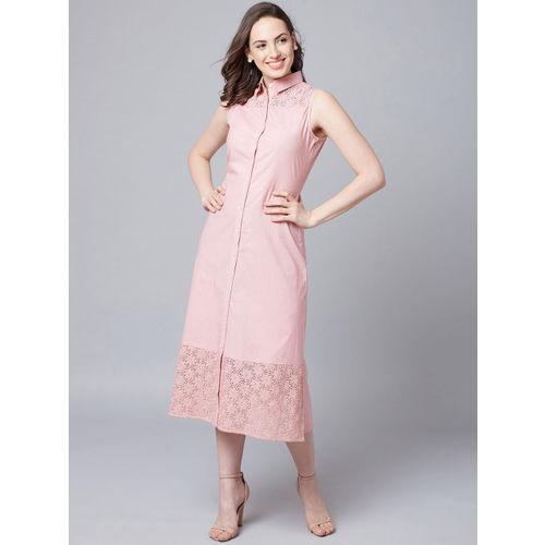 Athena Women Peach-Coloured Shirt Dress