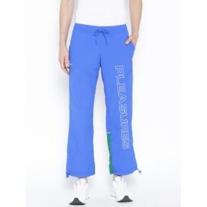 Reebok Classic Unisex Blue Solid V Pleasures Track Pants