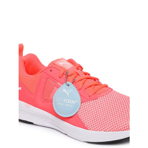 Puma Women Coral Pink NRGY Asteroid Running Shoes