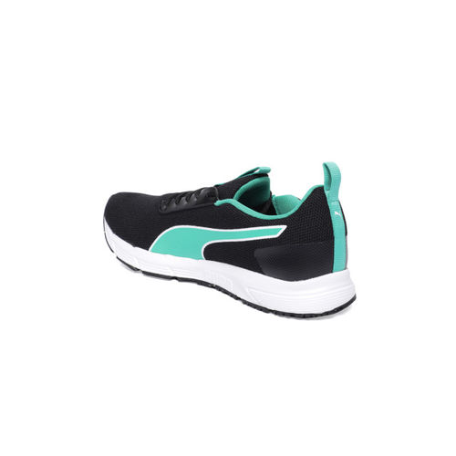 Puma Women Black & Blue Solid Progression Pro Running Shoes