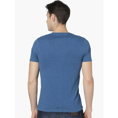 Fame Forever by Lifestyle Men Blue Printed Round Neck T-shirt