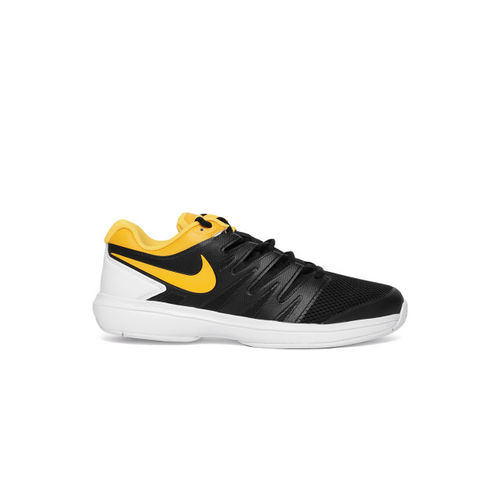 Nike Men Black Air Zoom Prestige HC Tennis Shoes