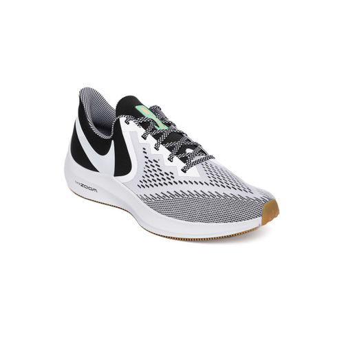 Nike Men Grey & Black ZOOM WINFLO 6 SE Running Shoes