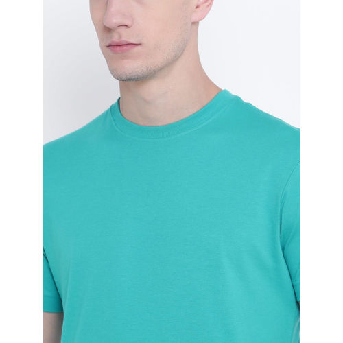 Jockey Men Blue Solid Round Neck T-shirt