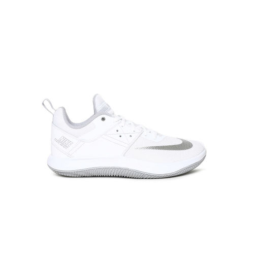 Nike White FLY.BY LOW II Leather Basketball Shoes