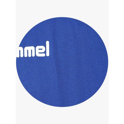 hummel Men Blue Solid Round Neck T-shirt