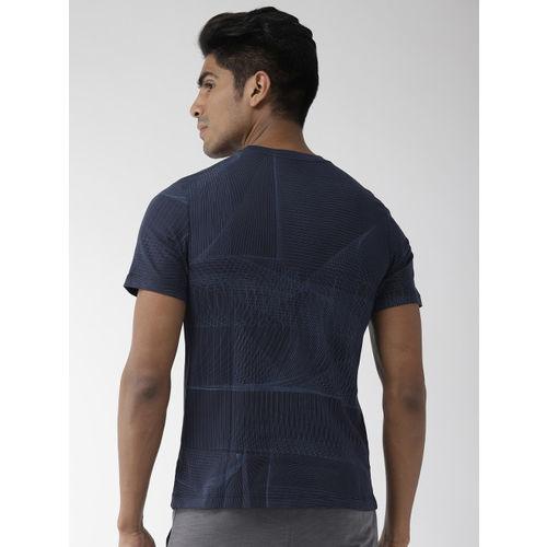 Nike Men Navy Blue Printed Standard Fit DFCT AOP Dri-FIT Round Neck Training T-shirt