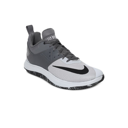 Nike Men Grey NIKE FLY.BY LOW II Basketball Shoes