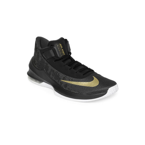 Nike Men Black Air Max Infuriate 2 Mid Basketball Shoes