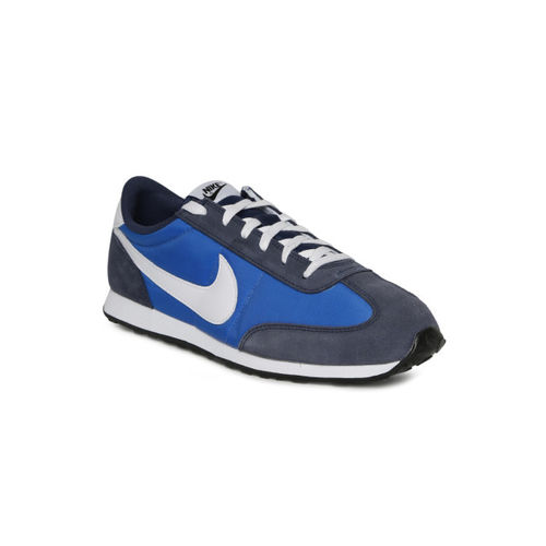 Nike Men Blue & Grey Mach Leather Running Shoes