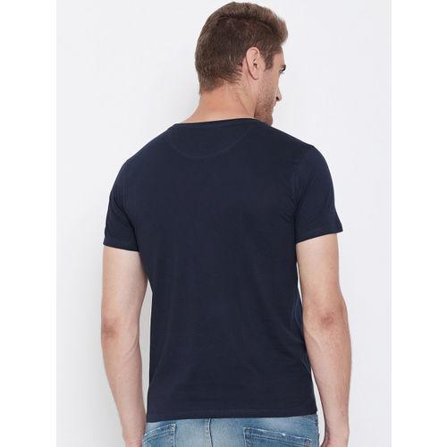 Lion King Men Navy Blue Lion King Printed Round Neck T-shirt