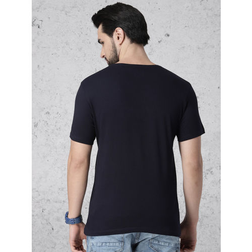 Ecko Unltd Men Navy Blue Printed Round Neck T-shirt