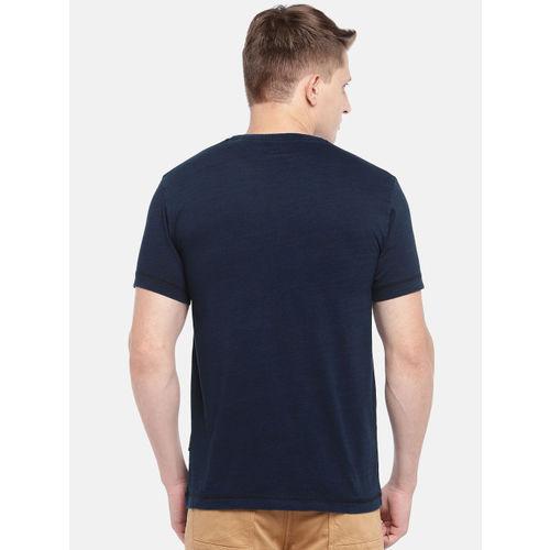 Roadster Men Navy Blue Printed Round Neck T-shirt