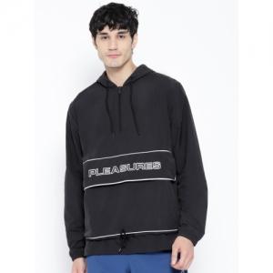 Reebok Classics Men Black Solid X Pleasures Anorak Hooded Jacket