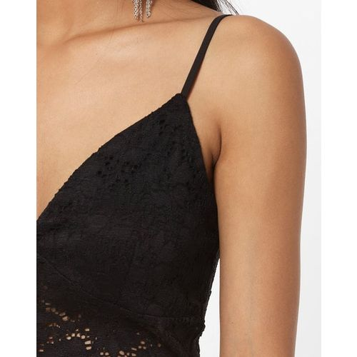 TALLY WEiJL Lace Top with Adjustable Straps