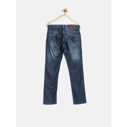 United Colors of Benetton Boys Blue Skinny Stretchable Jeans
