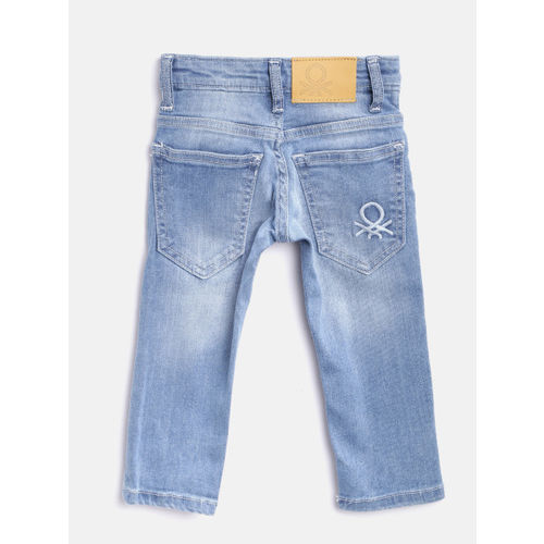 United Colors of Benetton Boys Blue Slim Fit Stretchable Jeans
