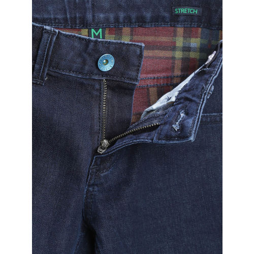 United Colors of Benetton Boys Navy Regular Fit Stretchable Jeans