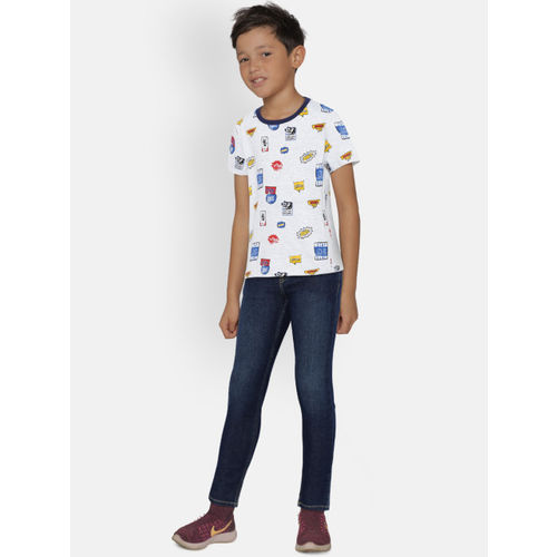 United Colors of Benetton Boys Navy Slim Fit Mid-Rise Clean Look Stretchable Jeans