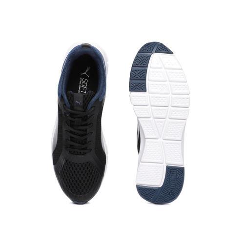 Puma Men Black & Blue Colourblocked Trackracer IDP Running Shoes