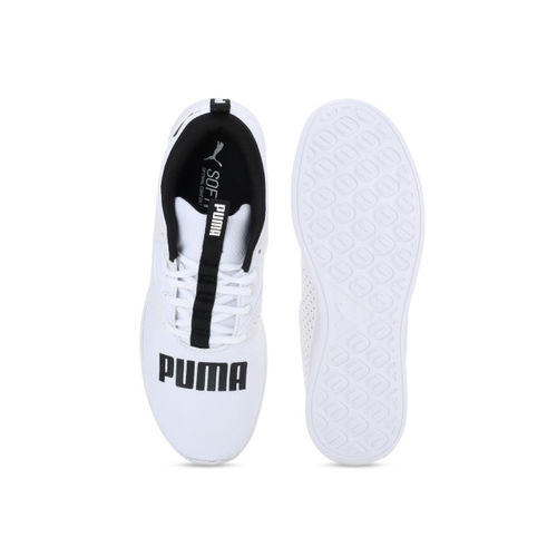 Puma Men White Perforations Detector Running Shoes