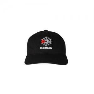 Reebok Classic Unisex Black Self Design Baseball Cap