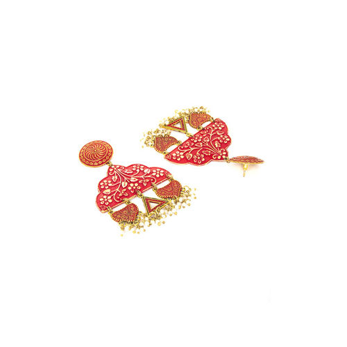 AKS Gold-Toned Contemporary Drop Earrings