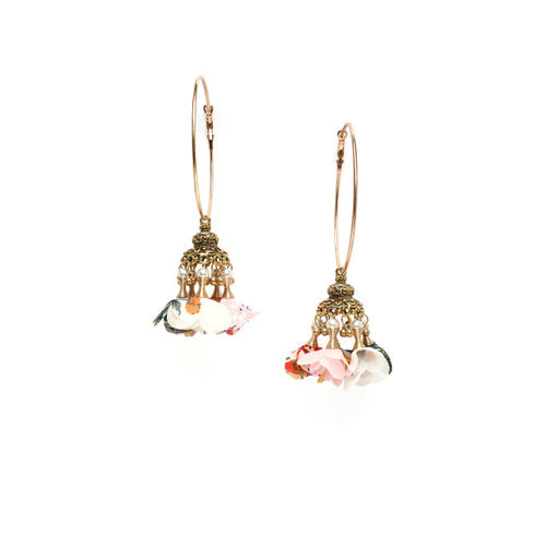 AKS Gold-Toned Contemporary Hoop Earrings