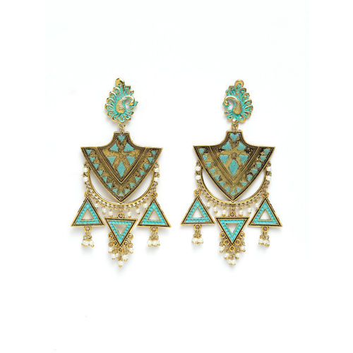 AKS Gold-Toned Contemporary Drop Earrings