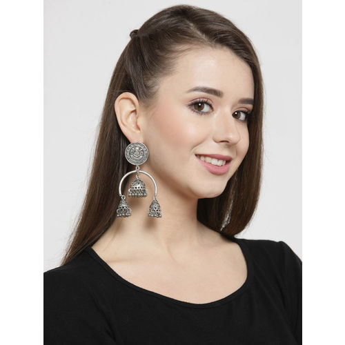 AKS Silver-Plated Handcrafted Dome Shaped Jhumkas