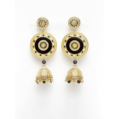 AKS Gold-Plated & Handcrafted Dome Shaped Jhumkas